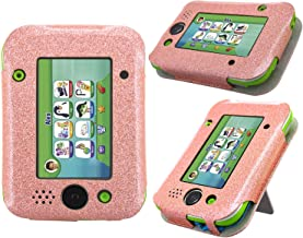 LeapPad Jr. Case - HOTCOOL New PU Leather with Kickstand Cover Case for Leapfrog LeapPad Jr. Kids Tablet, Glitter Rose