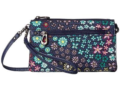 Sakroots Corin Flap Wallet (Navy Floral Spirit) Wallet