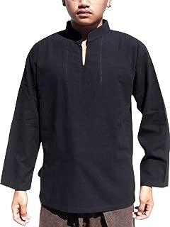 Raan Pah Muang 中国领长袖衬衫 YeapHai 非标准编织棉