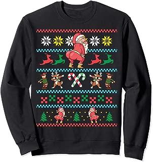 Santa Claus Twerking Funny Ugly Christmas Sweater Twerk Meme Sweatshirt