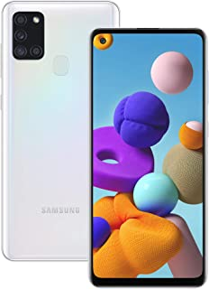 Samsung Galaxy A21s Android Smartphone, SIM Free Mobile Phone, White (UK Version)