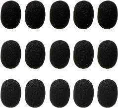 Pantallas Antiviento de Micrófono Auriculares de Solapa, Cubiertas de Micrófono de Espuma, Mini Tamaño, 15 Piezas