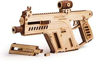 Wood Trick Assault Rifle Gun Wooden Model - Toy Gun, Guns for Kids - 3D Wooden Puzzle Mechanical Model to Build, Assembly Model, Brain Teaser for Adults and Kids
