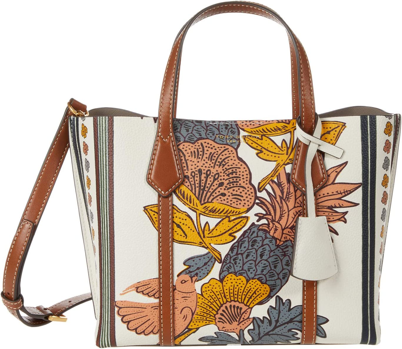 Tory Burch Perry Printed Small Triple-Compartment Tote