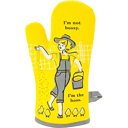 Blue Q Oven Mitt, I'm Not Bossy. I'm the Boss. Super-insulated quilting, natural-fitting shape, 100% cotton.