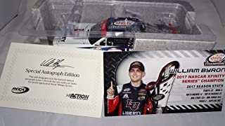 Lionel Racing Autographed William Byron 2017 Xfinity Series Champ Liberty University NASCAR Diecast 1:24 Scale