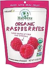 Natierra Nature's Organic Freeze-Dried Raspberries | Gluten Free & Vegan | 1.3 Ounce