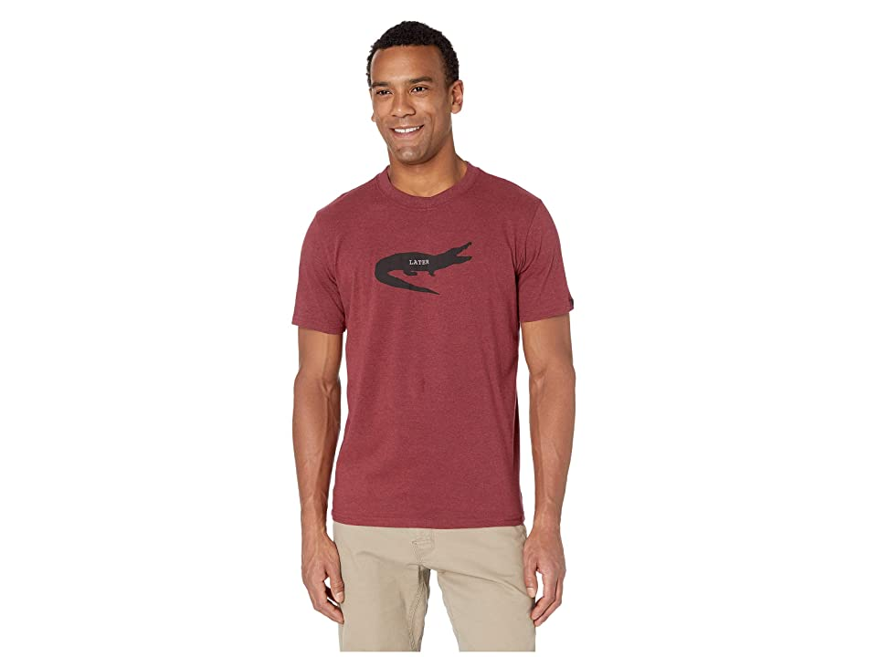 Prana Later Alligator Journeyman T-Shirt (Rusted Roof Heather) Men