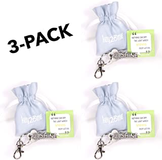 3-Pack key2Bme Shine Key - Sunshine Keychain & Inspirational Quote - The Cute Cool Fun Unique Small Volunteer Appreciation Thank You Gift Under $10 for Giving Kids Teen Friends Girls Women Coworker