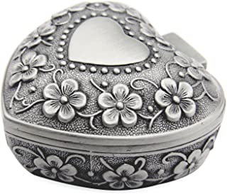 Sponsored Ad - AVESON Classic Vintage Antique Heart Shape Jewelry Box Ring Small Trinket Storage Organizer Chest Christmas...