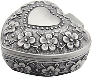 silver antique ring box