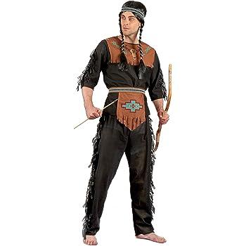 Generique - Disfraz Indio para Hombre Negro y marrón L: Amazon.es ...