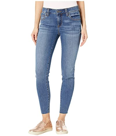 KUT from the Kloth Connie Ankle Skinny Jeans w/ Cut Off Hem in Searching w/ Medium Base Wash (Searching w/ Medium Base Wash) Women