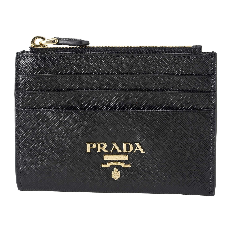 プラダ(PRADA) カードケース 1MC026 QWA F0002 サフィアーノ メタル ブラック 黒 [並行輸入品]