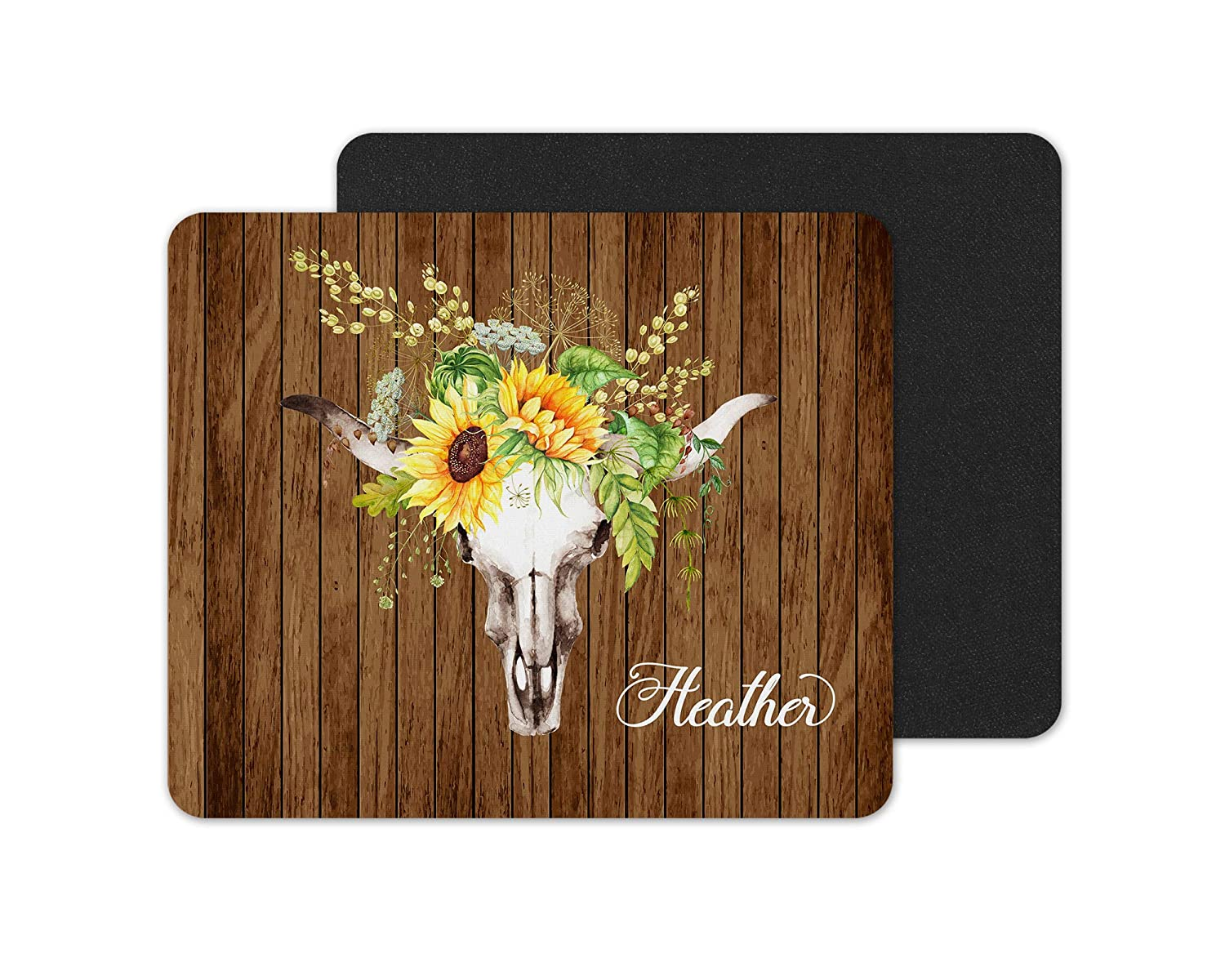Sunflower Skull Boho Rustic Personalized Pad Surprise New Orleans Mall price Mouse