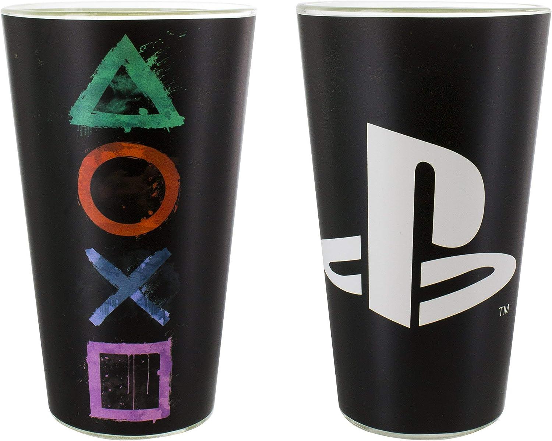 Playstation Potable Vidrio, Multicolor, 9x 9x 15cm