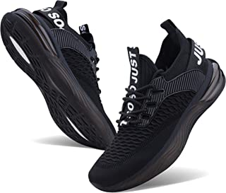 Mens Non Slip Running Shoes Lightweight Breathable Mesh Sneakers Athletic Gym Sports Walking Shoes