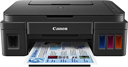 "Canon G3200 All-In-One Wireless Supertank (MegaTank) Printer| Copier| Scanner| and Mobile Printing, Black, 6.5"" x 17.6"" x ..."