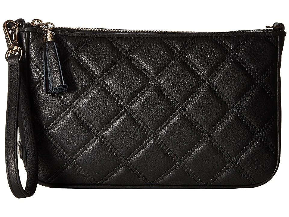 Cole Haan Benson Quilted Demi Wristlet (Black) Handbags