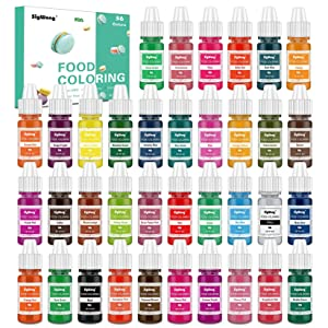 Food Coloring - 36 Color Concentrated Liquid Food Colouring Set - neon Liquid Food Color Dye for Baking, Decorating, Icing, Cooking, Slime Making Kit and DIY Crafts, 6ml Bottles(0.25 fl.oz.)