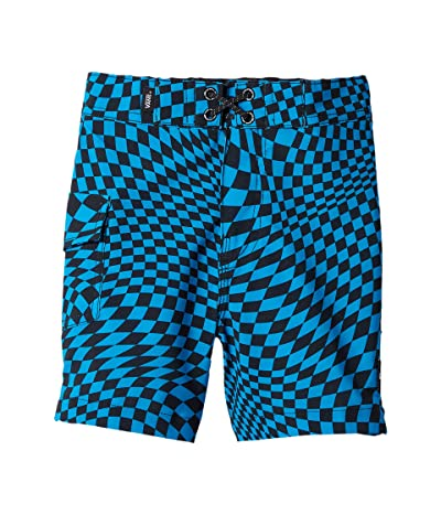 Vans Kids Warped Check Boardshorts (Toddler/Little Kids/Big Kids) (Blue Jewel) Boy