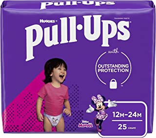 Pull-Ups Learning Designs Girls` Training Pants, 12-24M, 25 Ct