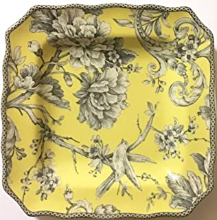 222 Fifth Adelaide Yellow Porcelain Single Salad Plate 8.5