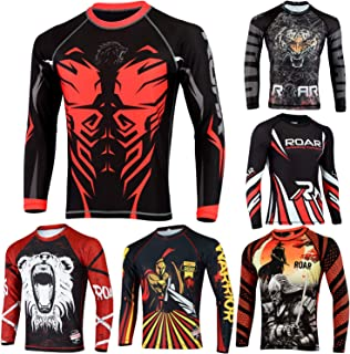 Roar MMA Rash Guards UFC Fight Training BJJ Grappling No Gi Wear