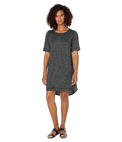 Nally & Millie Short Sleeve High-Low Dress (Black) Women