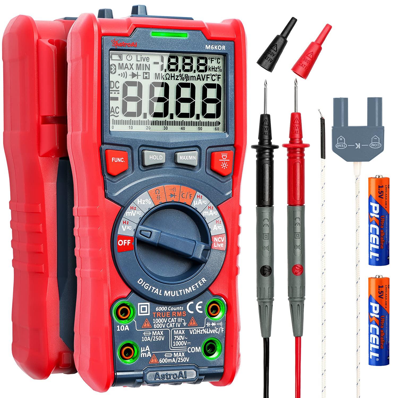 AstroAI Digital Multimeter, TRMS 6000 Counts