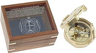 1114 Brunton Kompas met Gegraveerd, 8 cm gepolijst messing koffer