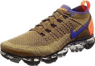 Nike Mens Air Vapormax Flyknit 2 Running Shoes (Orange/Blue/10.5 D)