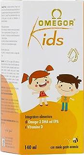 Omegor Kids - Omega-3 DHA Vegetal y Vitamina D para Niños. 140 ml