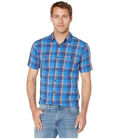 Royal Robbins Point Lobo Short Sleeve Shirt (Twilight Blue) Men