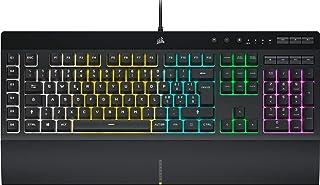 Corsair K55 RGB PRO Tastiera Gaming a Membrana Cablata, Retroilluminazione RGB, 6 Tasti Macro con Integrazione Software El...