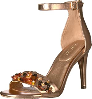 Kenneth Cole REACTION Women's Smash Dance Two Piece Open Toe Stiletto Heel Flower Ornamentation Dress Sandal