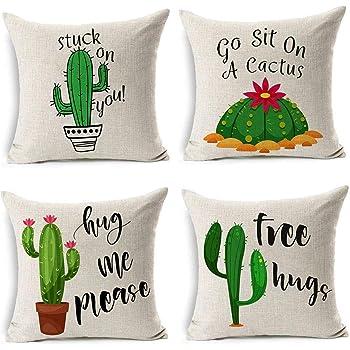 Fiore Cactus Copriletto Copricuscino Federa Cuscino Divano Letto Arredo
