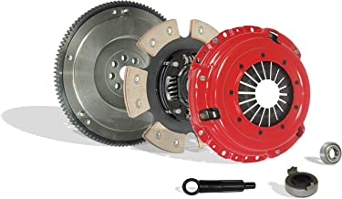 Clutch With Fywheel Kit Works With Honda Civic Si Del Sol Cr-V Gs Lx Type R Gs-R VTEC Special 1994-2001 1.6L L4 1.8L l4 GAS DOHC Naturally Aspirated (Flywheel Spec: .112+; 6-Puck Disc Stage 3)