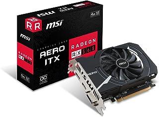 MSI Radeon 560 Aero ITX 4G OC - Tarjeta gráfica (tamaño ITX, 4 GB de Memoria GDDR5)
