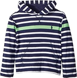 Polo Ralph Lauren Kids - Striped Cotton Hooded T-Shirt (Toddler)