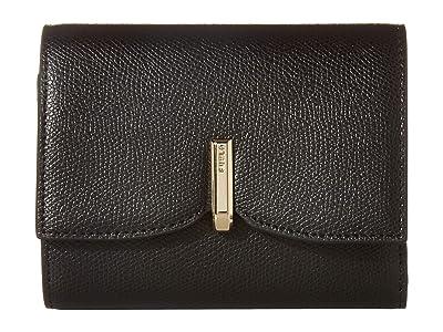 Furla Ribbon Medium Bifold (Nero) Handbags