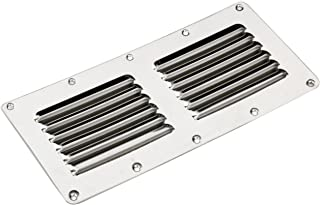 """Rectangular Great Stainless Steel Stamped Louvered Vent 5/"""" X 9/""""-AM"""