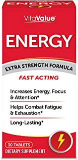 Vita Value Energy Extra Strength Formula, 30 Tablets