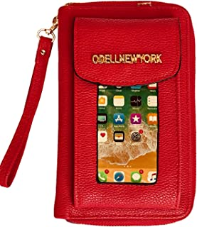 Vegan Leather Crossbody Smartphone Wristlet Wallet