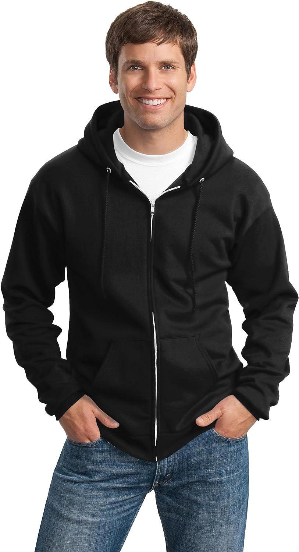 Port & Company Tall Ultimate Full-Zip Hooded Sweatshirt>3XLT Jet Black PC90ZHT