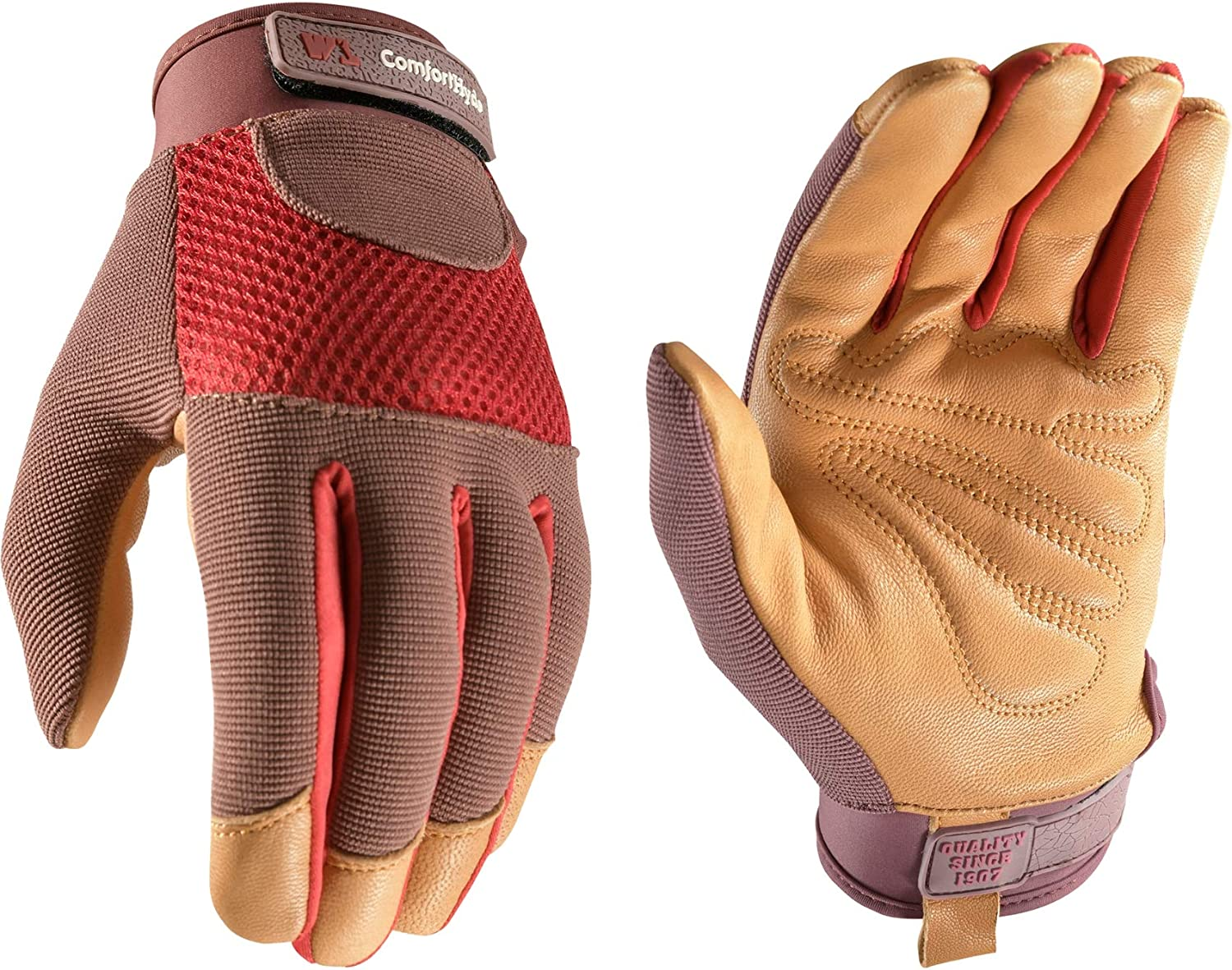 Women's Breathable ComfortHyde Leather At the price of surprise Daily bargain sale Hybrid Gardening Glo Work
