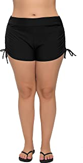 ffa1f476b1a13 ATTRACO Women's Plus Size Swim Shorts Solid Swim Bottom Beach Swim Board  Shorts