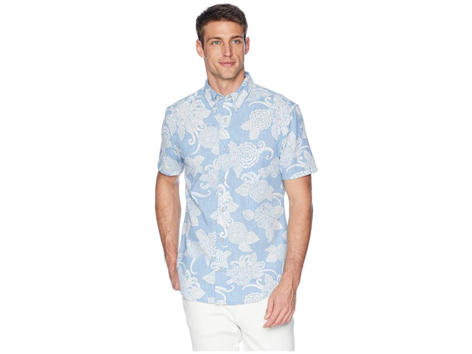 Reyn Spooner Opti Mums Tailored Fit Aloha Shirt (Denim) Men
