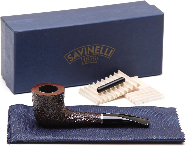Savinelli Pocket Brownblast High material Tobacco Pipe 404 Milwaukee Mall