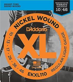 D'Addario EKXL110 - Juego de cuerdas para guitarra eléctrica de níquel, 010' - 046'